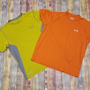 UNDERARMOUR BUNDLE OF 2 POLY TEES. SIZE M